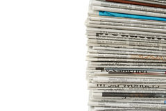 New and unread newspapers Royalty Free Stock Image