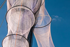 New unused fishing nets in Holland Royalty Free Stock Photography