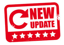 New update design. Red stamp - new update sign Stock Photography