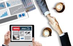NEW Update Headline Media Live Broadcast Media Talking Communica Royalty Free Stock Image