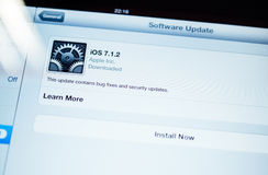 New update for iOS available Stock Photography