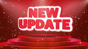 New Update Text Animation Stage Podium Confetti Loop Animation
