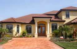Free New Upscale Home In Tropics Royalty Free Stock Photos - 2104148