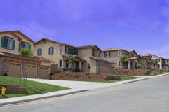 New Upscale Neighborhood. New Neightborhood in Southern California Royalty Free Stock Photography