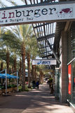 New Upscale Retail Shopping Center Stock Photos