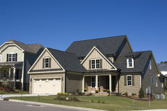 New upscale suburban house. During builder's parade of homes Royalty Free Stock Image