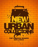 New urban collections design template. New urban collections design template with shopping bag Stock Photo