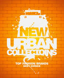New urban collections design template. Royalty Free Stock Images