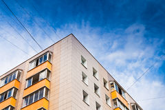 New urban house under dark blue sky Stock Photography