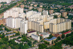 New urban neighborhoods from height Royalty Free Stock Photography