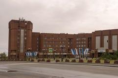 New Urengoy, YaNAO, North of Russia. September 1, 2013. Head office of Gazprom mining Yamburg Royalty Free Stock Photos