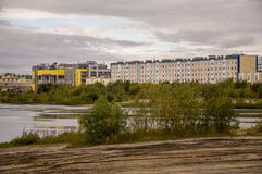 New Urengoy, YaNAO, North of Russia. September 1, 2013. Lake named Nameless Royalty Free Stock Images