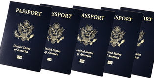 New USA Passport Book Stock Photography