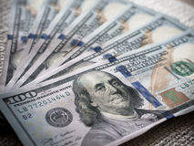 New USD banknotes Stock Photo