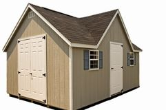 New Utility Storage Shed Isolated stock images