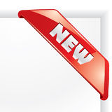 """New vector corner. """"New"""" vector corner for your business artwork Royalty Free Stock Photos"""