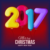 New in 2017, vector illustration Stock Images