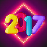 New in 2017, vector illustration Stock Photos