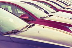 New Vehicles For Sale stock photography