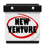 New Venture Wall Calendar Launch Reminder Business Startup Stock Photography