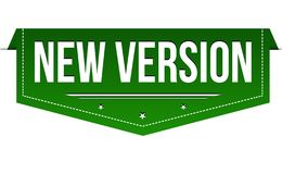 New version banner design. On white background, vector illustration royalty free illustration