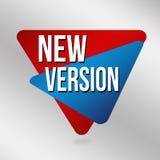 New version label or sticker. On grey background, vector illustration stock illustration