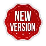 New version label or sticker. On white background, vector illustration royalty free illustration