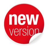 New version label tag red. Vector vector illustration