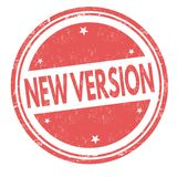 New version sign or stamp. On white background, vector illustration vector illustration