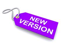New version tag or label Royalty Free Stock Photo