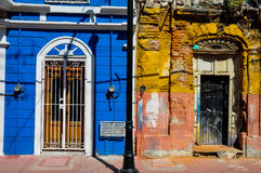 New versus Old colonial style, Mazatlan, Mexico Stock Photo
