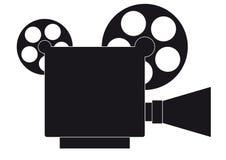 New videocamera. Retro movie camera, Retro videocamera Stock Photos