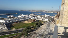 New view of tangier port. From Kasba view of tangier port Stock Photography