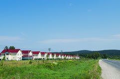 New village of similar houses Royalty Free Stock Images