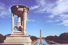 New vintage reflecting pool by Lincoln Memorial Stock Photography