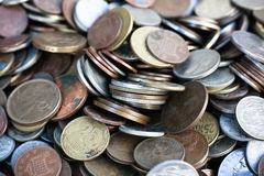 New and vintage world coins collection Stock Photo