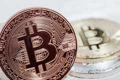 New virtual money. Cryptocurrency. Stock Photo