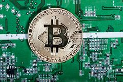 New virtual money. Cryptocurrency. Royalty Free Stock Photography