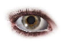 New vision of dots eye Royalty Free Stock Photos