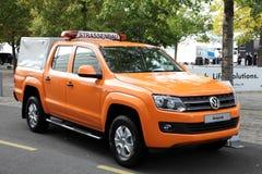 New Volkswagen Amarok Highway Stock Images
