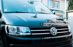 New Volkswagen luxury Transporter shuttle black wan logotype Royalty Free Stock Image