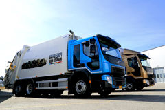 New Volvo FE and FL Regional Transport Trucks Royalty Free Stock Images