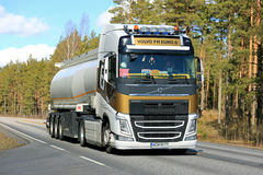 New Volvo FH Semi Tanker Transport stock photo