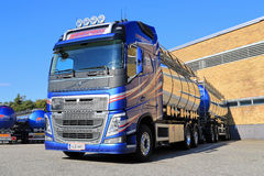 New Volvo FH Tank Truck by a Warehouse Royalty Free Stock Image