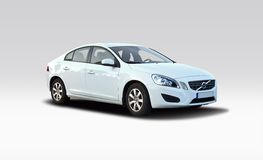 New Volvo S60 white Stock Images