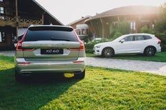 New 2018 Volvo XC60 car. Kiev, Ukraine - 19 August 2017, New Volvo XC60 2018 presented to public in Ukraine Royalty Free Stock Photos