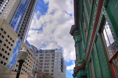 New VS Old Downtown Architecture Royalty Free Stock Photos