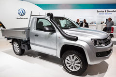 New VW Amarok Pickup truck. At the 65th IAA Commercial Vehicles fair 2014 in Hannover, Germany Stock Image