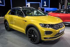 New VW T-Roc R-Line compact suv car Stock Photos