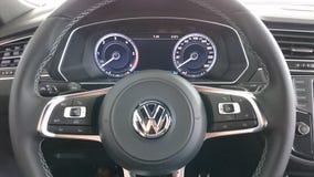 New Vw Tiguan cockpit details Stock Photo